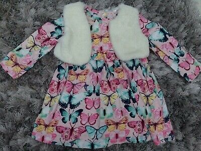 Debenhams Mantaray Girls Winter Dress Outfit Set Age 18-24 Months