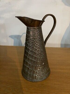 John Sankey And sons Copper Arts & Crafts Crocodile Skin Hot Water Jug 4 Pint