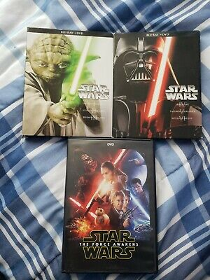 Star Wars Complete Saga Episodes 1-6 Blu Ray Complete Set + Extra dvd