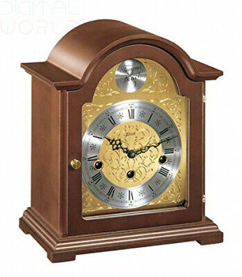 Hermle Hand Made Traditional Bracket Style Mantle Clock - Walnut Finish with...