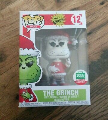 FUNKO SANTA GRINCH BLACK AND WHITE pop vinyl Books #12 Shop LE EXCLUSIVE