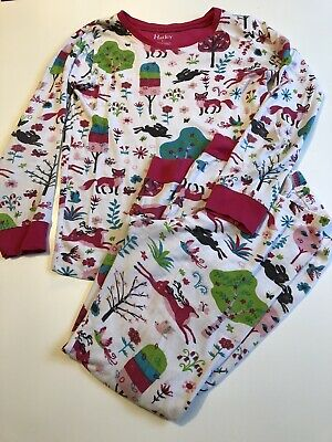 Girls Hatley Pyjamas Mystical Forest Woodland Animals Rabbits Deer Age 8 Years