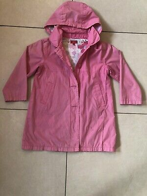 Debenhams Tigerlily Girls Pink Lightweight Coat With Hood Age 7 Years