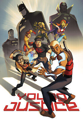 """YOUNG JUSTICE ANIMATED SERIES 11""""x17"""" POSTER PRINT #3"""