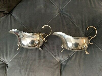 Pair Of Peter Guille New York Sterling Silver Sauce Boats