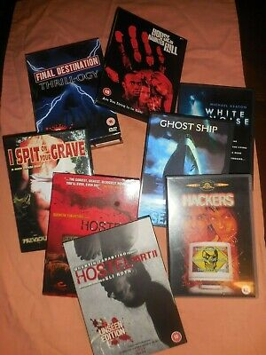 Job Lot 10 In Total Horror Scary Dvds Inc Hostel 1 And 2 Unseen Editions
