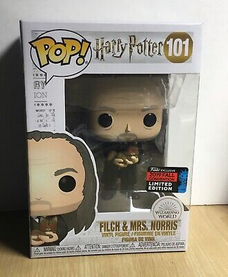 Filch & Mrs. Norris Harry Potter Funko Pop Nycc 2019 Shared Exclusive Limited