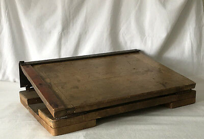 WONDERFUL Vintage Wooden ARDA or ARDO Paper Trimmer Guillotine - Cuts Superbly