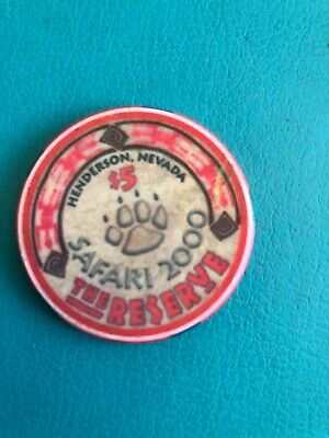 The Reserve Casino Chip  Nevsda Closed 2001 Issued 1999