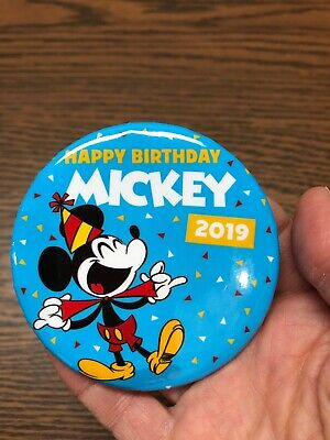 Happy Birthday Mickey Mouse 2019 Disney Parks Exclusive Button