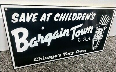 Bargain Town USA ...Toys R Us Sign .. defunct Chicago Store Bargaintown