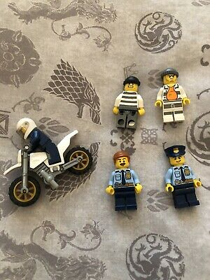 LEGO City Minifigures Custom Bundle - Police & Robbers (Excellent Condition)