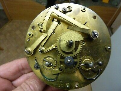 "Antique ? Old ""Alm""  Clock Striking Movement- Runs Ans Strikes Ok (Al)"