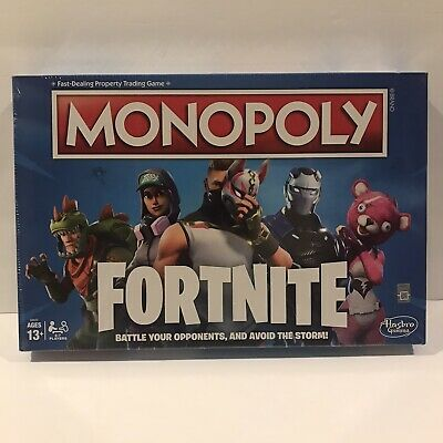 SEALED NEW MONOPOLY Fortnite Edition Board Game Original