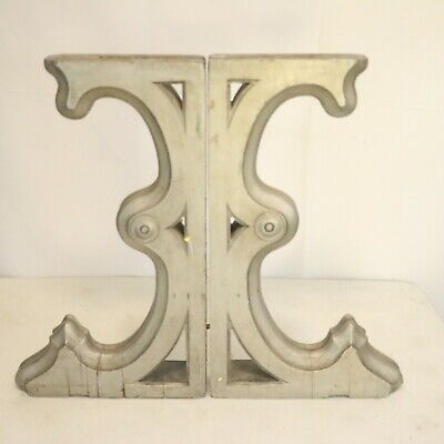 Antique Victorian Architecture Wood Corbels Distressed Farmhouse
