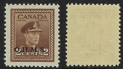 Scott O2: 2c KGVI War Issue with O.H.M.S. overprint, VF-NH
