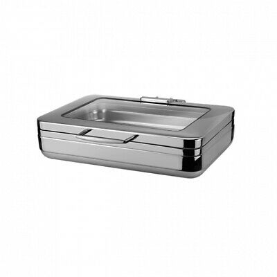 Athena Prince Chafing Dish 1/1 Stainless Steel & Glass Induction & Fuel Heated