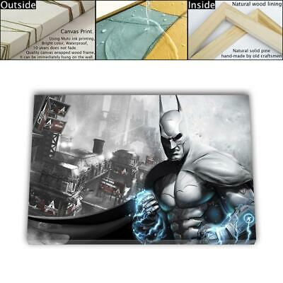 "16""x26"" Batman Arkham Asylum Posters HD Canvas prints Framed dome decor Wall art"