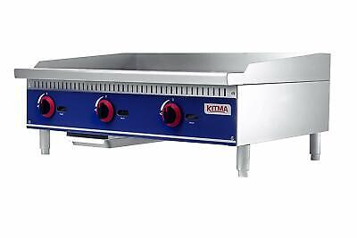 "Commercial Countertop Manual Griddle - KITMA FCMG-36  36"" Natural Gas Flat Top"