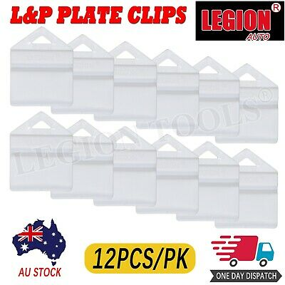 12X White Plate Clips L & P L And P Number Plate Holders 12Pcs Green Yellow Red