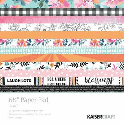 """KAISERCRAFT Scrapbooking Paper Pads - 6.5"""" - Blessed - PP1059"""