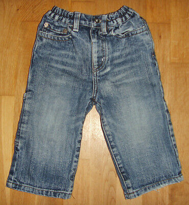 Baby Boys Jeans Denim Trousers Elasticated Waist Two Colours 3-6M to 18-24M
