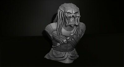 Predator Bust -- File Stl for 3D printing -- created with ZBrush