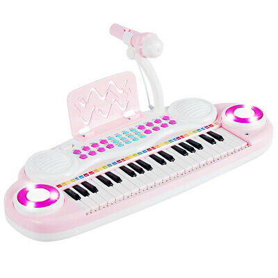 37-Key Toy Keyboard Piano Electronic Musical Play w/Music Score&Microphone