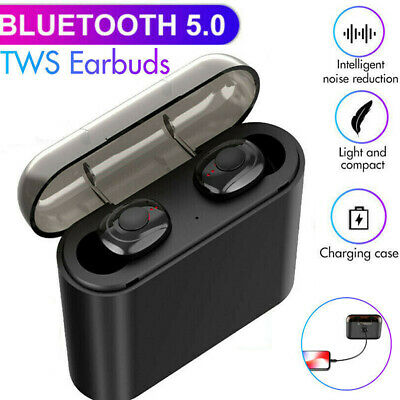 Bluetooth 5.0 Headsets TWS Wireless Earphones Twins Earbuds 5D Stereo Headphones