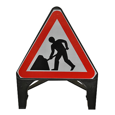 Men At Work 750mm Road Traffic Sign - UK Made & BRAND NEW