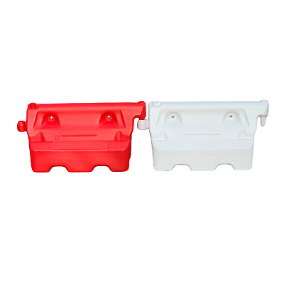 1-Meter Heavy Duty Water Filled Traffic Barriers - Red & White - Road Safety