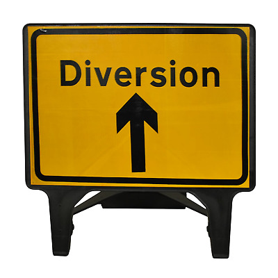 Diversion Ahead - 1050 x 750mm Road Traffic Safety Sign - BRAND NEW