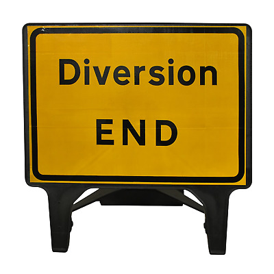 Diversion End - 1050 x 750mm Road Traffic Safety Sign - BRAND NEW