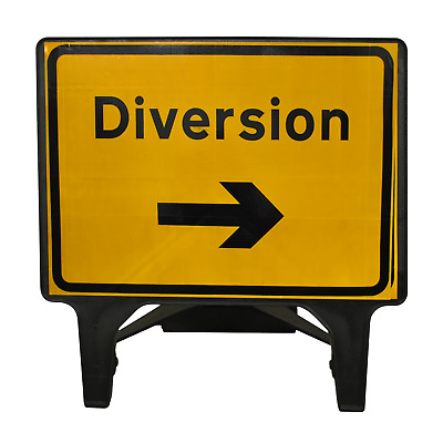 Diversion Right - 1050 x 750mm Road Traffic Safety Sign - BRAND NEW