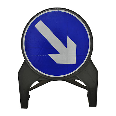 Keep Right 750mm Road Traffic Safety Sign - UK Made & BRAND NEW