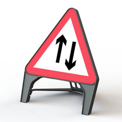 Two Way Traffic 750mm Road Traffic Sign - UK Made & BRAND NEW