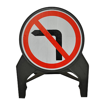 No Left Turn 750mm Road Traffic Sign - UK Made & BRAND NEW
