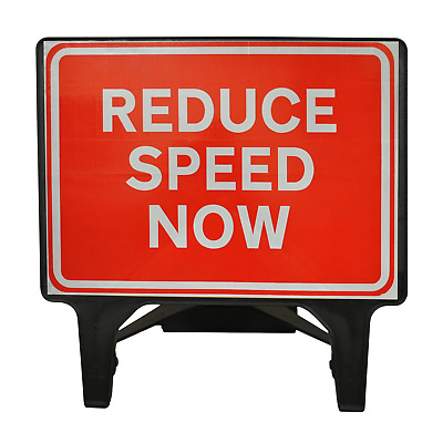 Reduce Speed Now - 1050 x 750mm Road Traffic Safety Sign - BRAND NEW