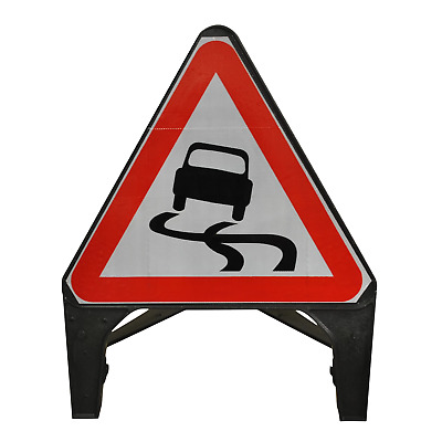 Slippery Road Surface 750mm Road Sign 557