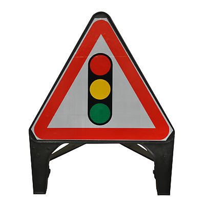Traffic Signals Ahead 750mm Road Traffic Sign - UK Made & BRAND NEW