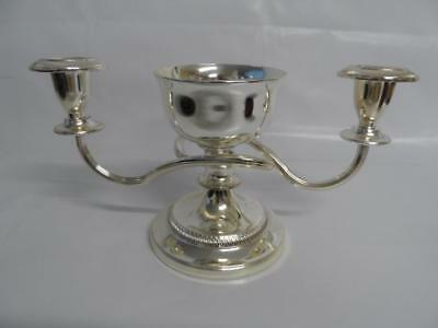 Silver Plated Two Arm Candlelabra With Centre Piece Bowl