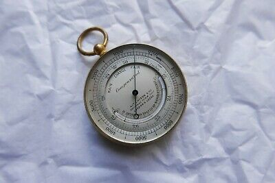 Antique Aithchison & co Opticians .Barometer altimeter and thermometer WORKING