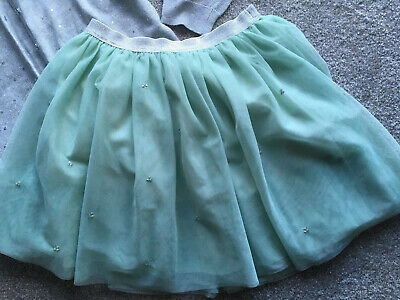 Sage Green And Silver Net Skirt From John Lewis For Girl Age 10