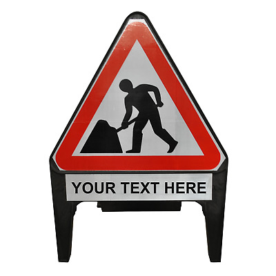 Men At Work with Custom Supplementary Plate 750mm Road Traffic Sign