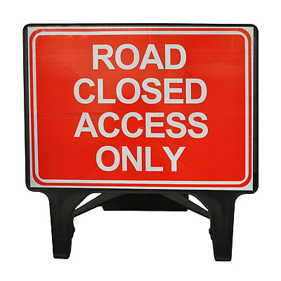Road Closed Access Only - 1050 x 750mm Road Traffic Safety Sign - BRAND NEW