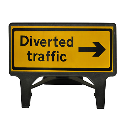 Diverted Traffic Right - 1050 x 450mm Road Traffic Management Safety Sign