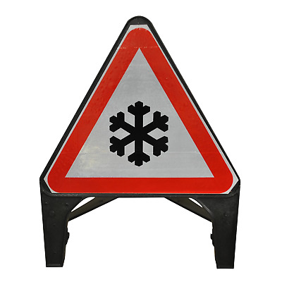 Ice Warning 750mm Road Traffic Sign - UK Made & BRAND NEW