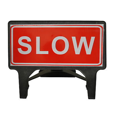 SLOW - 1050 x 450mm Road Traffic Management Safety Sign