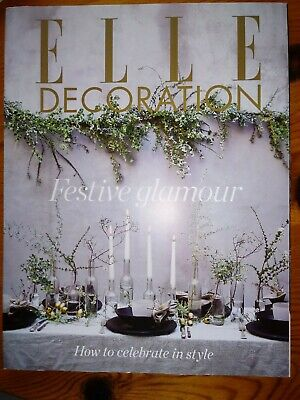Elle Decoration Magazine December 2017 Festive Glamour How to Celebrate in style