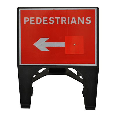 Pedestrians with Reversible Arrow Road Sign  - 600 x 450mm Road Traffic Sign